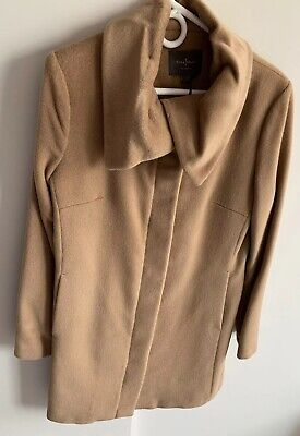 Cole Haan Wool Coat Camel, Size 8, NEW with -