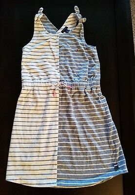 Tommy Hilfiger Girls Sun Dress Striped Navy White Strapped Sleeves Size 4T