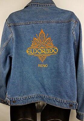 Vintage jacket Eldorado Casino Reno Nevada embroidered denim XL. for sale  Shipping to India