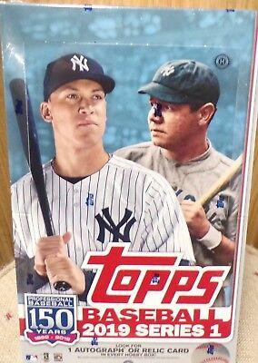 2019 Topps Series 1 Baseball Cards Hobby Box + 1 Silver Pack