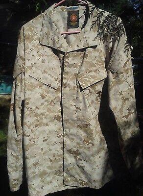USMC US Marines Desert MARPAT Digital Camo Jacket, Size Medium Long Great Cond. for sale  Bellingham