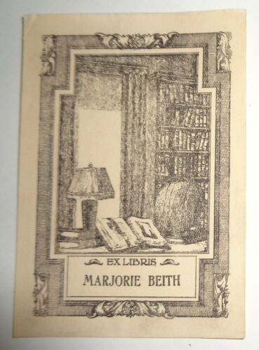 Marjorie Beith, Ex Libris Bookplate