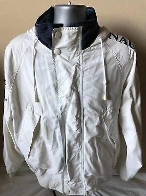 Vtg Rare Nautica Challenge Men's L Sailing J-Class 1930 1937 Spell Out Jacket