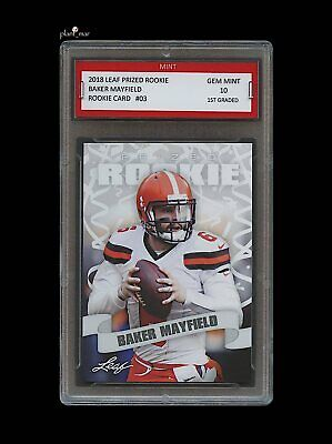 BAKER MAYFIELD 2018    18 LEAF PRIZED ROOKIE CARD 1ST GRADED 10 CLEVELAND  BROWNS 792865a42