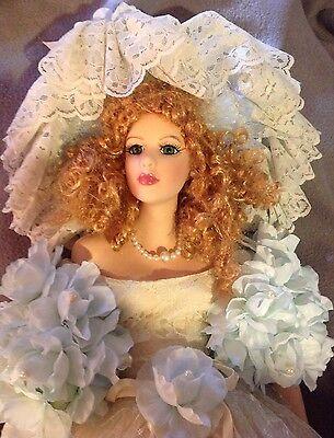 "28"" Tall Seymour Mann Victorian Style Porcelain Doll ""Cassandra"" Collectible"