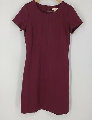 Brooks Brothers Wine 'Red Fleece' Ponte Knit Sheath Dress Soft Stretch Medium