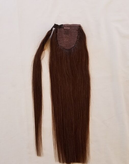 18inches 100 Human Hair Wrap Around Ponytail Hair Extensions 2