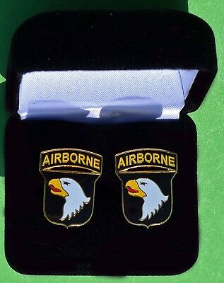 101st Airborne Division Army Cufflinks in Presentation Gift Box  -