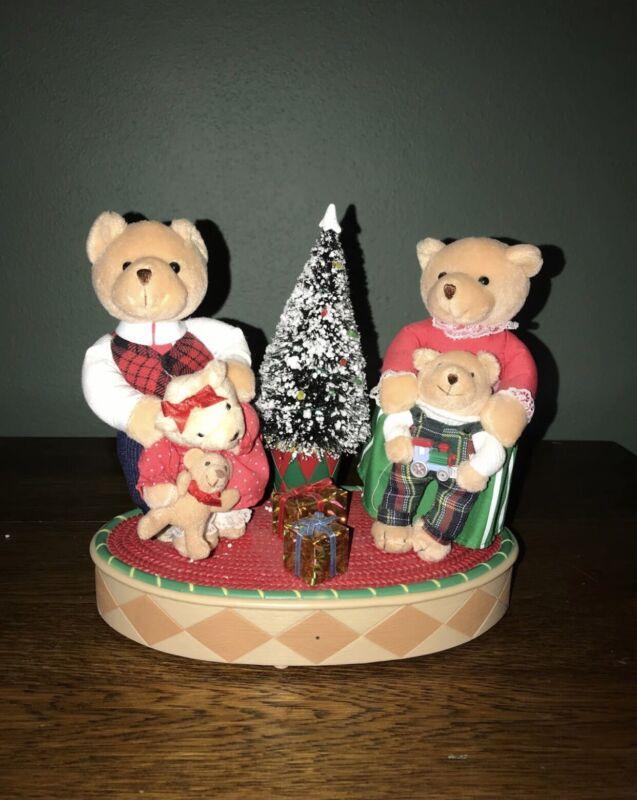 Vtg Avon Animated Singing Christmas Teddy Bear Family