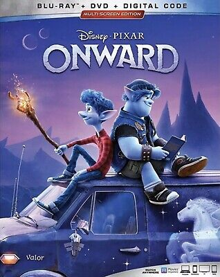 DISNEY PIXAR ONWARD(BLU-RAY+DVD+DIGITAL)W/SLIPCOVER NEW SHIPS 05/19/2020