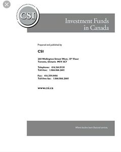 Investment funds in Canada (IFIC) textbook  C