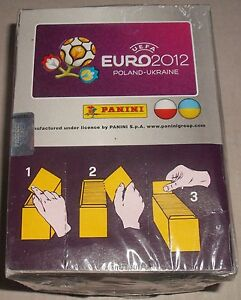 Panini UEFA EURO 2012 Poland-Ukraine Sticker Near Mint Box 100 Packs New Sealed