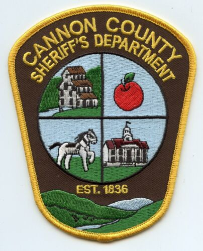 CANNON COUNTY TENNESSEE TN Apple Horse SHERIFF POLICE PATCH