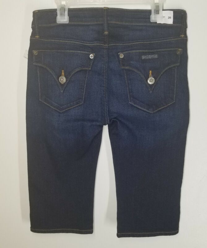 HUDSON Jeans Viceroy Knee Short Bermuda Dark Blue Stretch Size 26