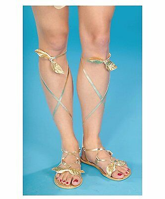 Gold Egyptian Sandals (Egyptian Roman Greek Goddess Sandals Adult Costume Accessory, One Size,)