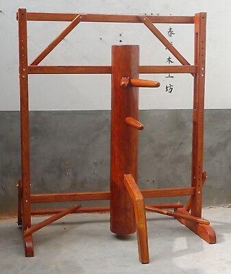 Framed Adjustable Wing Chun Wooden Dummy Made of Solid Elm Wood mook jong