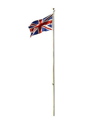 Flagpole Flag Pole 20ft With 2 flags Aluminium Union Jack England