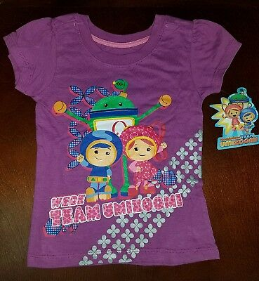 Team Umizoomi Purple Toddler Girl Shirt Top New 4T