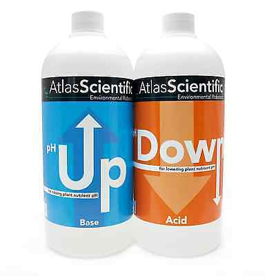 Atlas Scientific Hydroponic Ph Up And Down Control Test Kit 32Oz  1L  Bottles