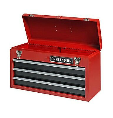 NEW Craftsman 3 Drawer Carry-on Mechanic Tool Box Chest Organizer Cabinet Garage