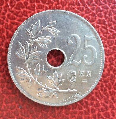 Belgique - Albert Ier - Magnifique monnaie de 25 Centimes  1913 VL