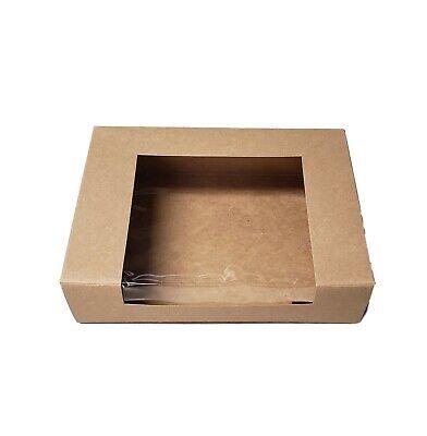 8 X 6 X 2 Kraft Paperboard Window Pastrybakery Box - 15 Pieces