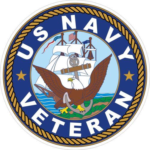 Outdoor Vinyl Decal Fun RV US Navy Emblem- 17 x 17  Window sticker Car