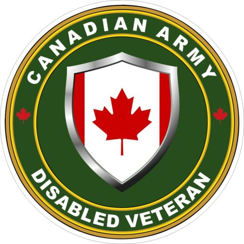 Sticker Canadian Army Disabled Veteran Decal