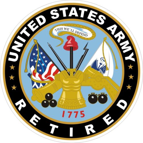 U.S Army Retired Decal Sticker
