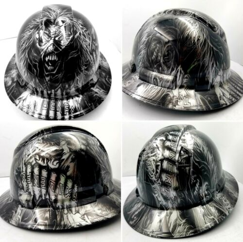 Hard Hat custom hydro dipped , OSHA approved FULL BRIM , IRON MAIDEN EDDIE NEW 4
