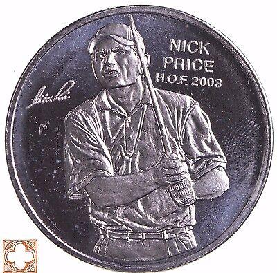 Nick Price Pga Hall Of Fame Round Silver 1 Troy Oz  999 Fine