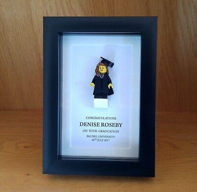 - Small unique personalised LEGO male / female small Graduation gift frame AFOL