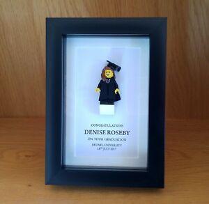 Small unique personalised LEGO male / female small Graduation gift frame AFOL