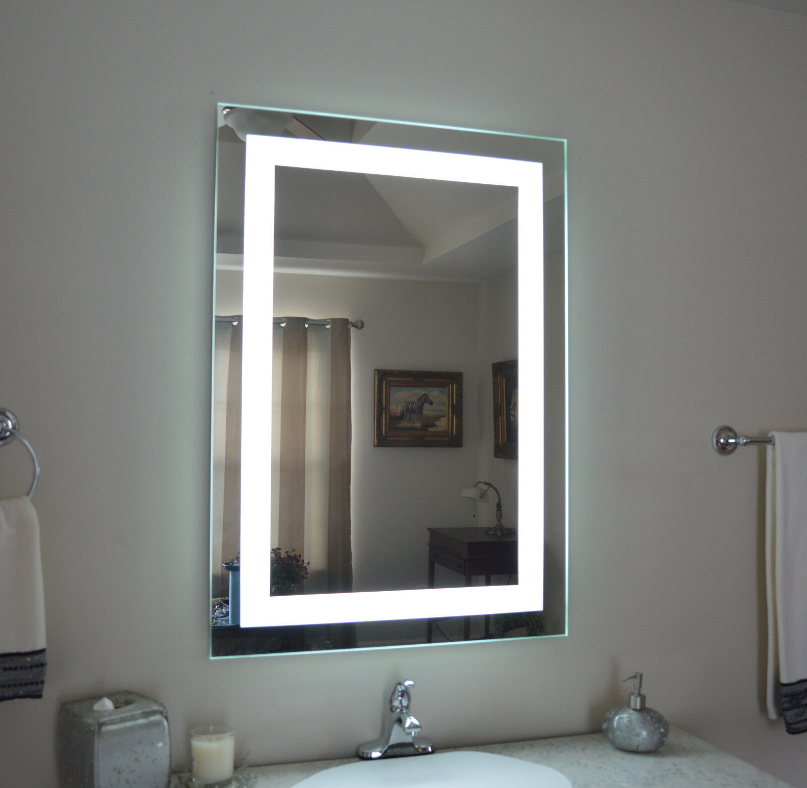 how to mount bathroom mirror lighted bathroom vanity make up mirror led lighted wall 23442