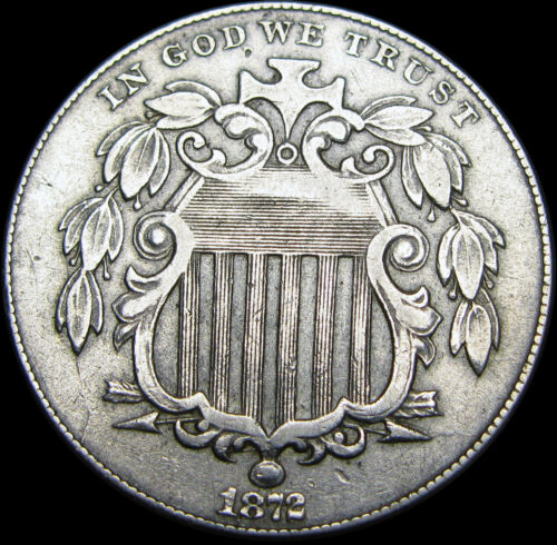 1872 Shield Nickel ---- TYPE COIN ---- #B166
