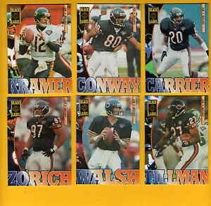 1995-Black-Label-Chicago-Bears-Set-STEVE-WALSH-MARK-CARRIER-ERIK-KRAMER-CONWAY