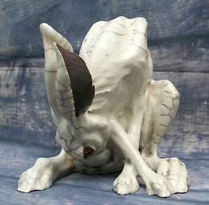 English Raku Studio Art Pottery Washing Hare Signed Potter Sculptor Brian Andrew