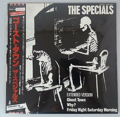 SPECIALS Ghost town + Too much too young JAPAN 2 X 12 INCH VINYL SKA PROMO obi