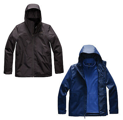 THE NORTH FACE ARROWOOD TRICLIMATE LAYERED MEN'S COAT JACKET BLACK FLAG BLUE