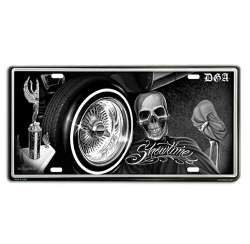 DGA David Gonzales Art Showtime Lowrider Tin Metal License Plate 12 x 6
