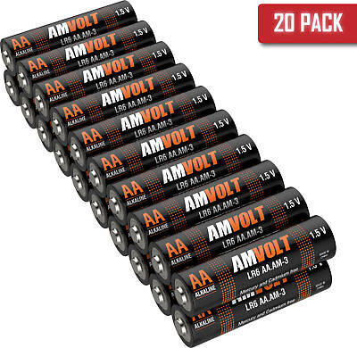 20 Pack AA Batteries LR6 Alkaline Battery 1.5 V Non Rechargeable [Exp. 2028] ()