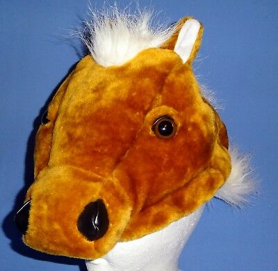 PLUSH  HORSE HAT-WITH SOUNDS-CHILD SIZE-HALLOWEEN COSTUME ACCESSORY-SCHOOL PLAY  - Halloween Costumes With Horses