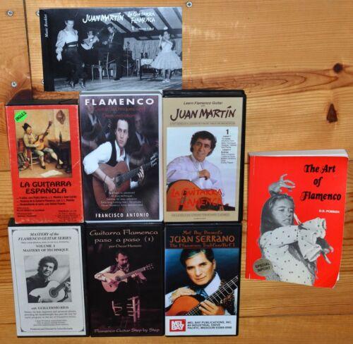Flamenco guitar music VHS videos and books