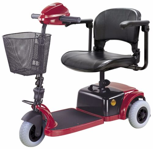 Ctm Hs-125 Compact Mobility Scooter, Free Soho Back, Red Or Blue, Lightweight