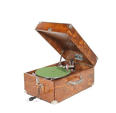 1921 Victor Victrola 50 Solid Oak Portable Phonograph * Outstanding Condition
