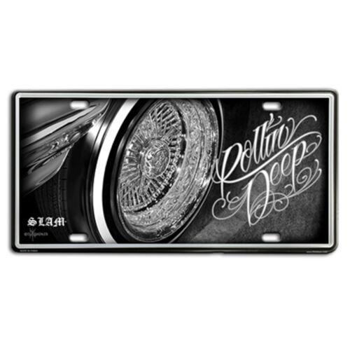 DGA David Gonzales Art Rollin Deep Lowrider Tin Metal License Plate 12 x 6