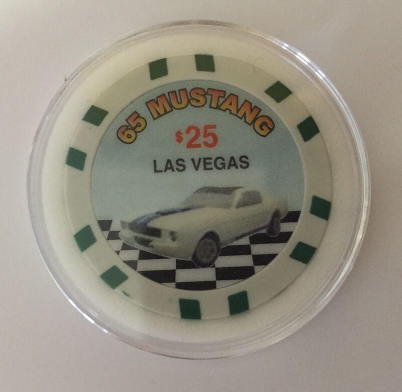1965 Ford Mustang Poker Chip Card Guard Casino Vegas