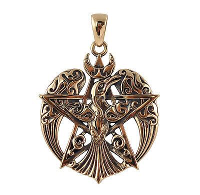 Bronze Raven Pentacle Pendant - Dryad Design Wicca/Pagan Celtic Amulet/Talisman