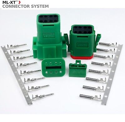 Molex Waterproof - 8 Pin Green Connector Set W14-18 Awg Sealed - Ml-xt