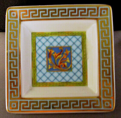 Versace Russian Dream Small Square Personal Ashtray Ramekin Rosenthal Germany